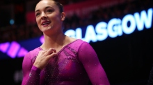 GLASGOW, SCOTLAND - NOVEMBER 01:  Margaret Nichols of United Staes reacts during day ten of The World Artistic Gymnastics Championships at The SSE Hydro on November 01, 2015 in Glasgow, Scotland. (Photo by Ian MacNicol/Getty images)